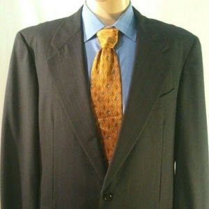 Hickey Freeman Men's 40L 100% Wool  Blue Blazer
